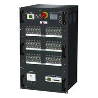 SRS Power* HYMAG stroomverdeler 125A | 1x 32A 5p | 6x Socapex 19p | 36x Schuko | Noodstop | LED A-meter | Digitale P-meter | Main MCB + RCD-D | 36x HRCBO | 18U