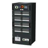 SRS Power* HYMAG stroomverdeler 250A | 250A Powerlock | 1x 32A 5p | 8x Socapex 19p | 48x Schuko | Noodstop | LED A-meter | Digitale P-meter | Main MCB + RCD-D | 48x HRCBO | 22U