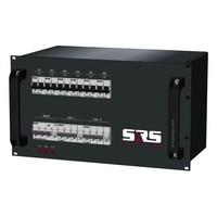 SRS Power* Rackmontage stroomverdeler 32A | 2x 16A 5p | 6x Schuko | Main RCBO | 8x MCB | 6U