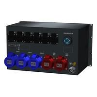 SRS Power* Rackmontage stroomverdeler 32A | 3x 32A 3p | 2x 16A 5p | 1x Socapex 19p | Main MCB | 14x RCBO | 6U