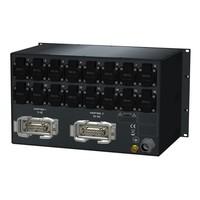 SRS Power* Rackmontage stroomverdeler 32A | 2x Harting 16p | Digitale VA-meter | Main MCB | PFNP | 16x RCBO | 6U