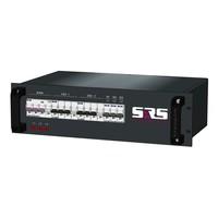 SRS Power* Rackmontage stroomverdeler 32A   2x 32A 5p   3x Schuko   Main RCBO   5x MCB   3U
