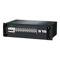 SRS Power* Rackmontage stroomverdeler 32A | 12x Schuko | Main MCB | 12x RCBO | 3U