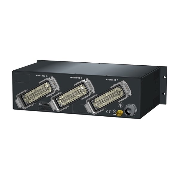 SRS Power* Rackmontage stroomverdeler 32A | 3x Harting 24p | 1x Schuko | Main RCBO | 4x MCB | 3U