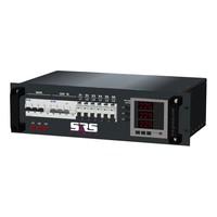 SRS Power* Rackmontage stroomverdeler 32A | 1x 32A 5p | 1x 16A 5p | 6x Schuko | Digitale meter |  Main MCB | 7x RCBO | 3U