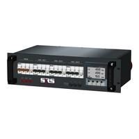 SRS Power* Rackmontage stroomverdeler 63A | 3x 32A 5p | Digitale meter | Main MCB | 3x MCB | 3U