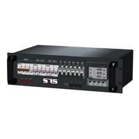 SRS Power* Rackmontage stroomverdeler 63A | 2x 32A 5p | 6x Schuko | Digitale meter | Main MCB | 2x MCB | 6x RCBO | 3U