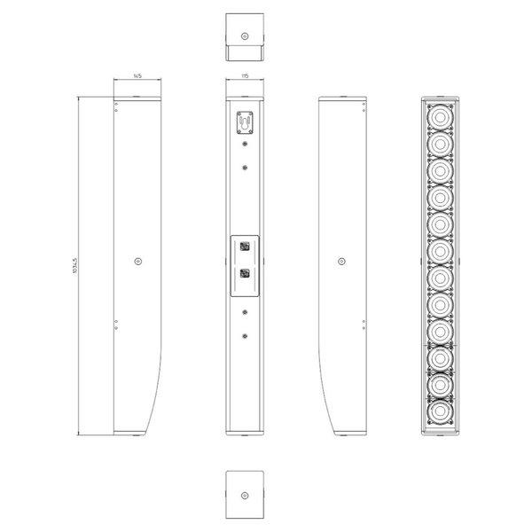 TENNAX* Speaker Axon 12x3 | passieve speaker | 12x 3-inch | 80° - 20° | 100Hz - 16.000Hz | 12 Ohm | 95,5 dB SPL (1W/1m)