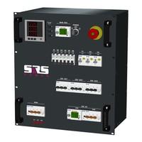 SRS Power* Rackmontage stroomverdeler 63A | 1x 63A 5p |3x 32A 5p | 3x 32A 3p | 6x2 Schuko | Digitale meter | Noodstop | Main MCB | Digitale Main RCD | 1x Digitale RCD | 3x MCB | 9x RCBO | 12U - Copy