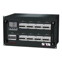SRS Power* Rackmontage stroomverdeler 125A | 8x 32A 5p | Digitale meter | Main switch | 8x MCB | 6U