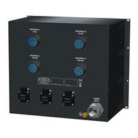 SRS Power* Rackmontage stroomverdeler 125A   4x Socapex 19p   3x Schuko   Main switch   Instelbare RCD   24x MCB   3x RCBO   9U