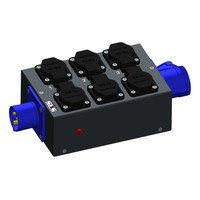 SRS Power* Multiblok CEE16A 3p | 1x CEE16A 3p | 6x Schuko | 1x Spannings LED