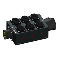 SRS Power* Multiblok CEE16A 5p   1x CEE16A 5p   6x Schuko   3x Spannings LED