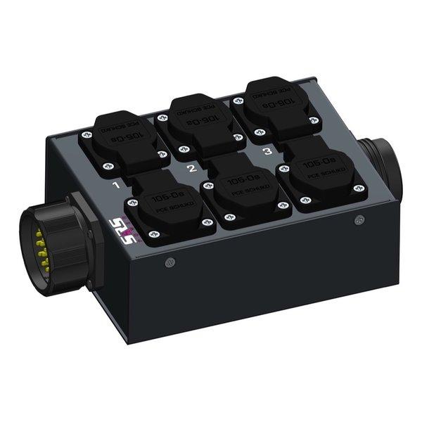 SRS Power* Multiblok Socapex 19p   1x Socapex 19p   6x Schuko