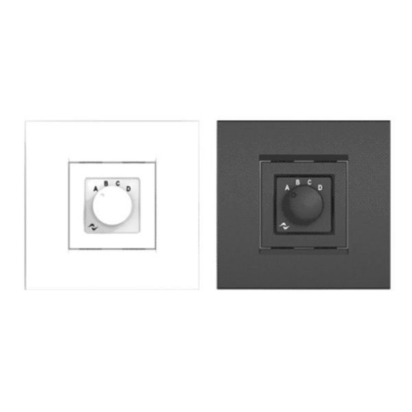Powersoft WMP | Source Selector | vierkant | zwart