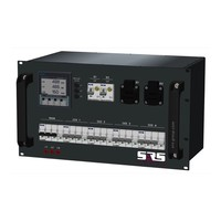 SRS Power* Rackmontage stroomverdeler 32A   4x 16A 5p   2x Schuko   Digitale meter   Main MCB   2x RCBO   4x MCB   6U