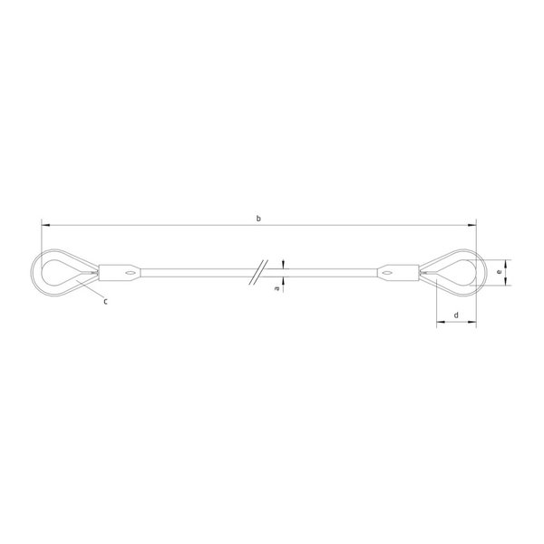 Roodenberg Steel   2 ton   Zonder slang   Gekleurde overmaats kous tot max. 4,25T harp   Conische talurit   Constructie 6x36WS+IWRC