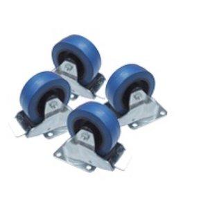 Voice-Acoustic* Wielset voor Paveosub-218   vaste montage van wielen op de achterzijde