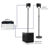 Voice-Acoustic* Speakerset Alea portable passief | Aleasub-10 Media Set