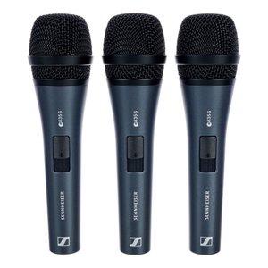 Sennheiser Zangmicrofoon | 3-pack e835-S | dynamisch | cardioid | met switch | inclusief klem en hoes