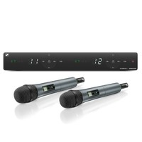 Sennheiser Draadloze handheld set | XSW 1-835 Dual-BC | 2x Handheld, 2x  microfooncapsule, 2x microfoon klem en 1x twee kanaals ontvanger met antennes