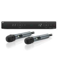 Sennheiser Draadloze handheld set | XSW 1-835 DUAL | 2x handheld met microfooncapsule, 1x ontvanger, interne antennes, 2x microfoonklem