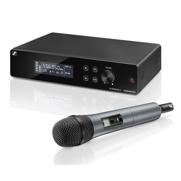 Sennheiser Draadloze handheld set | XSW 2-865 | Handheld, microfooncapsule, microfoonklem, ontvanger, rackmount kit