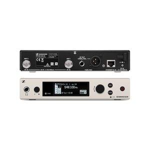 Sennheiser Ontvanger   EM 300-500 G4   Half rack formaat   Diverse frequentie banden   Tot 100 meter zendbereik   RC knop beschikbaar   Vier EQ presets   6,3 mm jack en XLR aansluiting