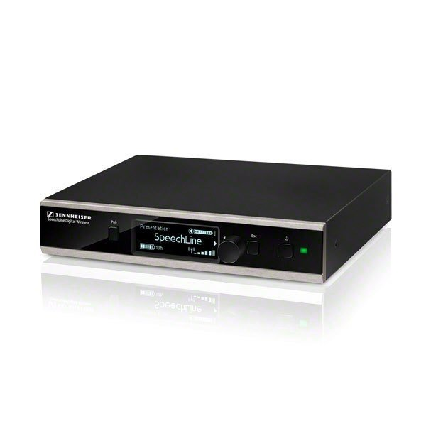 Sennheiser SpeechLine set | SL TS 153 GN-L SET DW-3 EU | SL-tafel staander, zwanenhals microfoon en ontvanger | QI oplaadfunctie of opladen via USB
