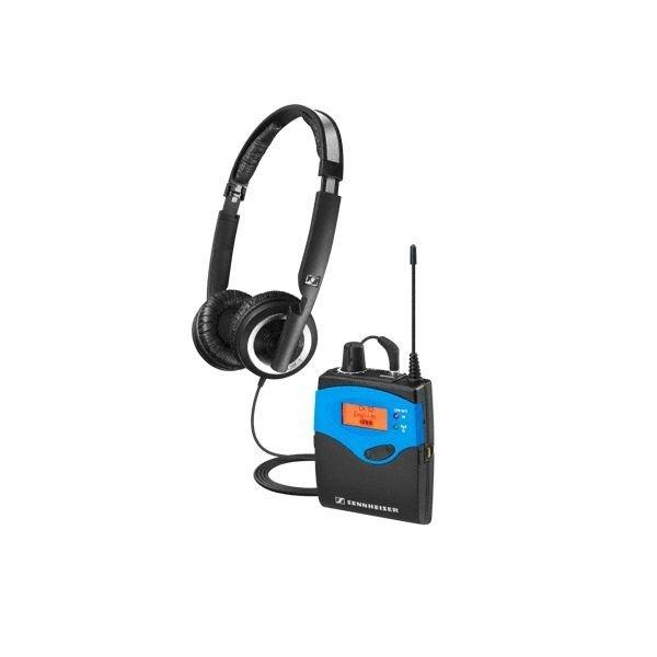 Sennheiser Bodypack ontvanger   EK 1039   Zwart-blauw gekleurd   Diverse frequentiebanden   Maximaal 32 ontvangers tegelijk gebruiken