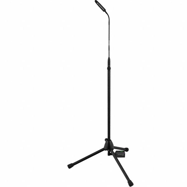 Sennheiser Microfoonstandaard | voor MZH en ME microfoons | MZFS 80 | MZFS 60 | 60 en 80 cm | driepoot | XLR female schroefdraad bovenaan | 3 pin XLR male onderaan | zwart