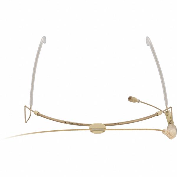 Sennheiser Headset | HSP 2 | omnidirectioneel | platinum capsule | voor SK50, SK250, SK2000, SK5212, SK6000 en SK9000 | 3 pin SE aansluiting | 1,6 meter kabel | beige en zwart