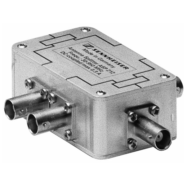 Sennheiser Antenne splitter   ASP 212   2x 1 in 2 out   passief   DC koppeling   BNC connectoren