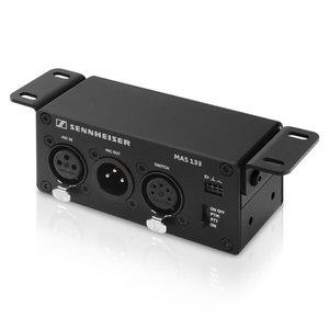 Sennheiser Microfoon controll box   MAS 133   IN: XLR-3 female   OUT: XLR-3 male   switch: XLR-5 female   logic out