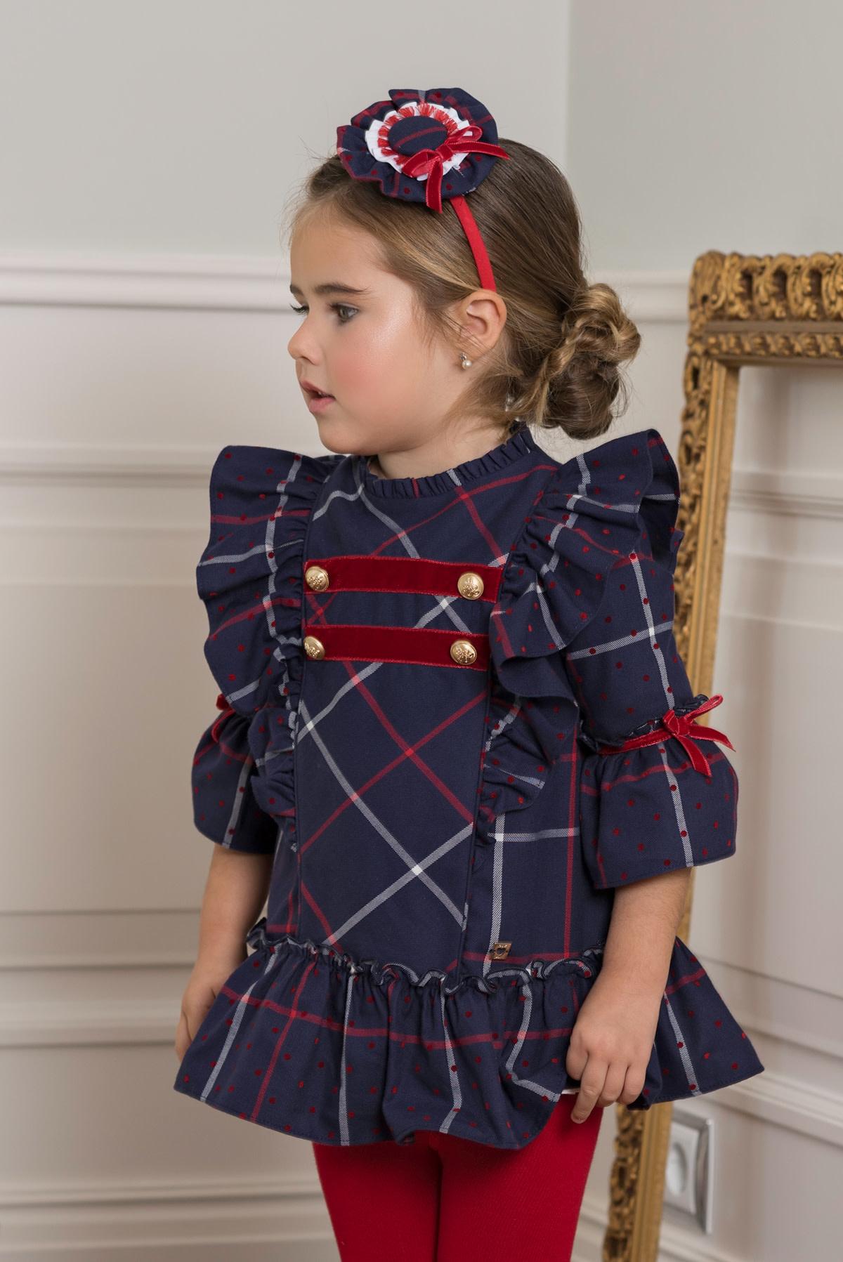 Dolce Petit Dolce Petit AW19 Girls Tartan Dress 2 Years 2210-V