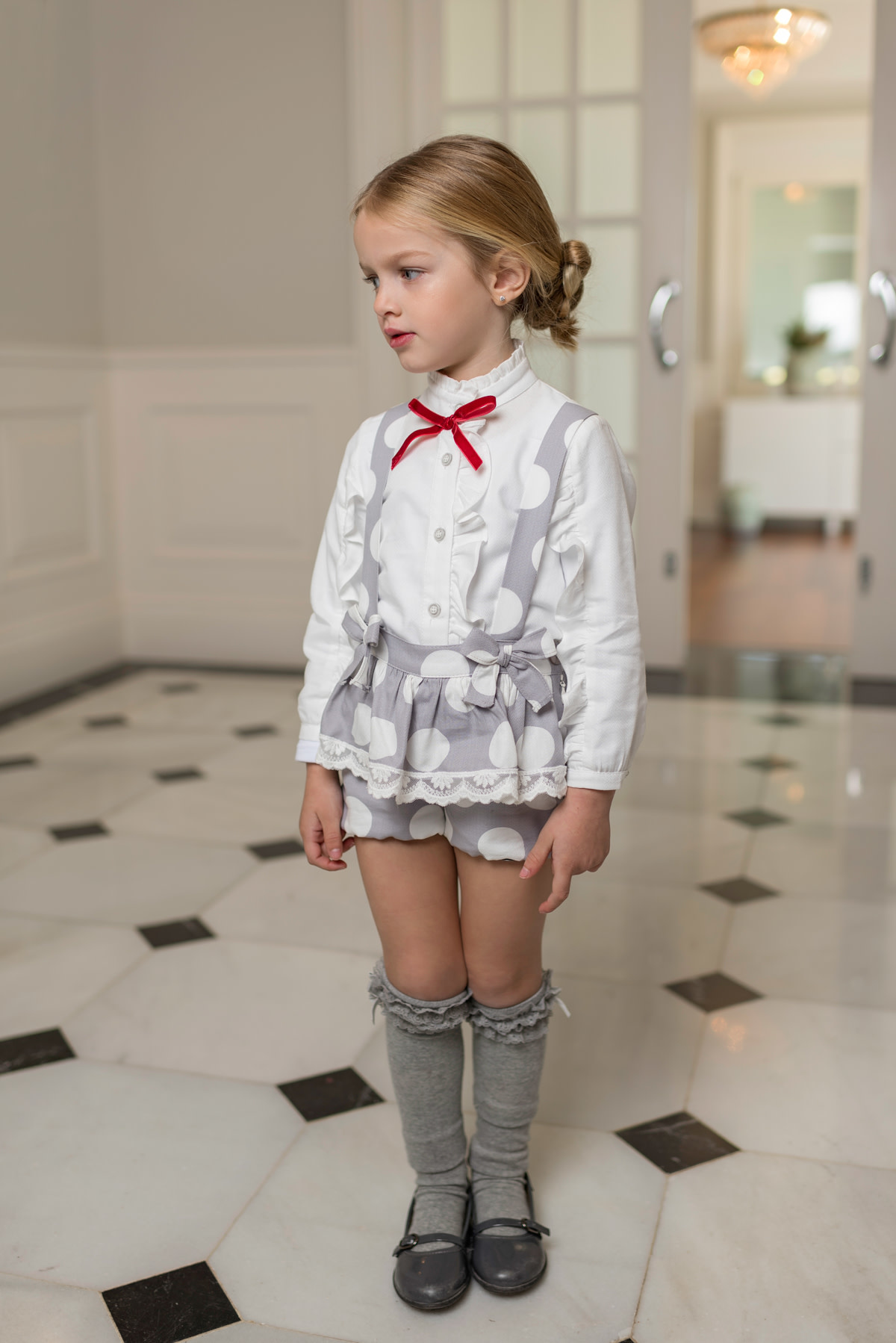 Dolce Petit Dolce Petit AW19 Girls Grey Shorts 2 Piece Set 2240-2 Age 6 Years