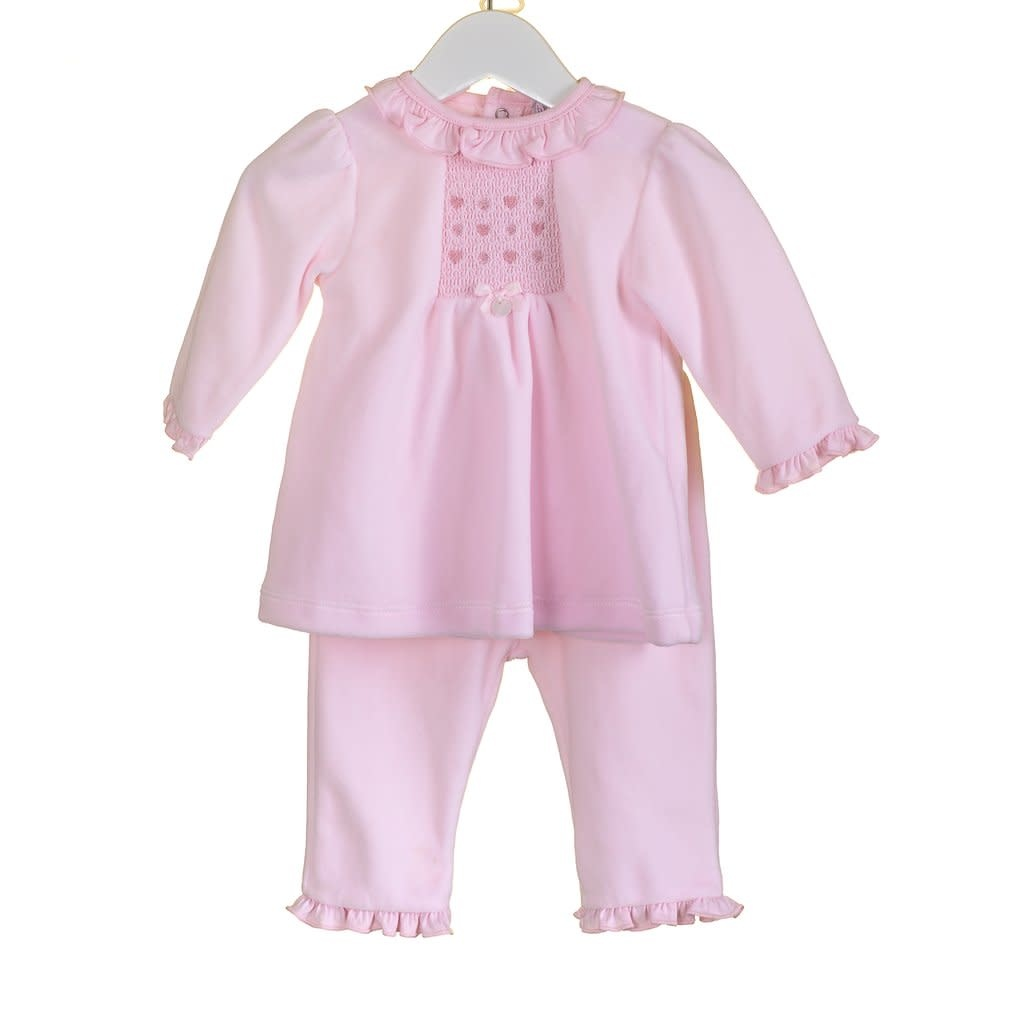 Blues Baby Blues Baby Pink Velour 2 Piece Set PP0333A