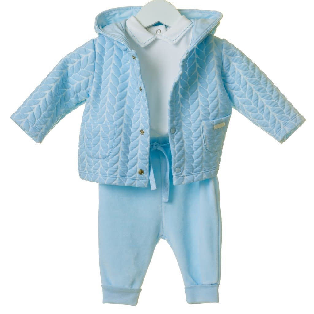 Blues Baby Blues Baby Boys Cable Interlock 3 Piece Jacket Set TT0201