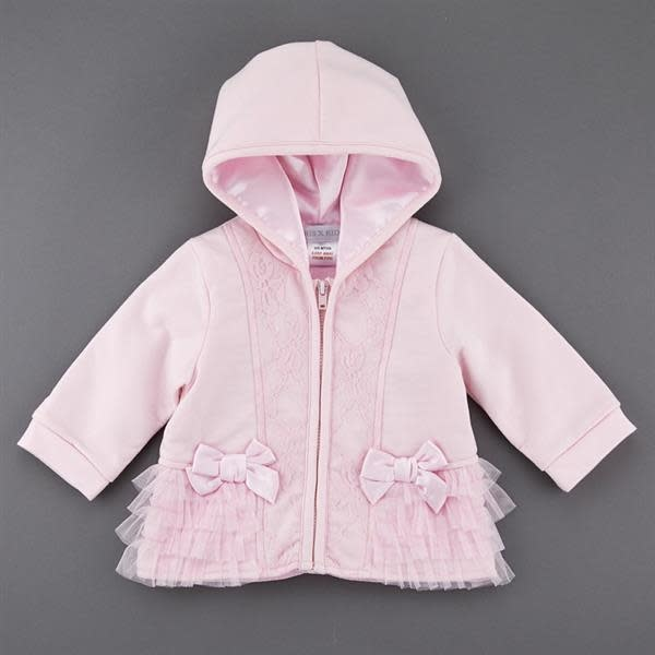 KRIS X KIDS KRIS X KIDS Girls Pink Jacket With Bow And Lace Detail 5064B