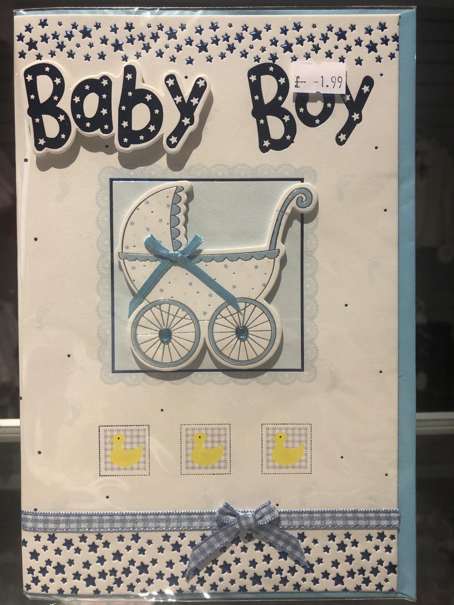 Baby Boy Card Blue
