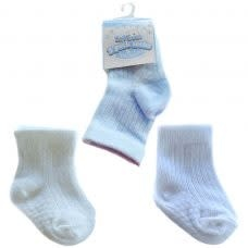 Soft Touch Boys 3 Pack Ribbed Socks