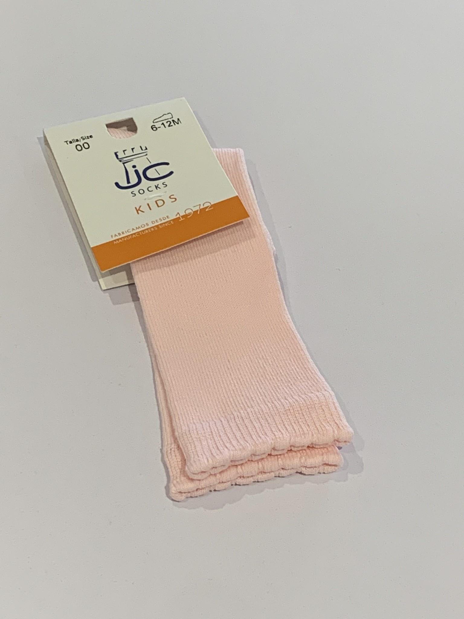 JC Socks JC Pink Plain Knee High Socks