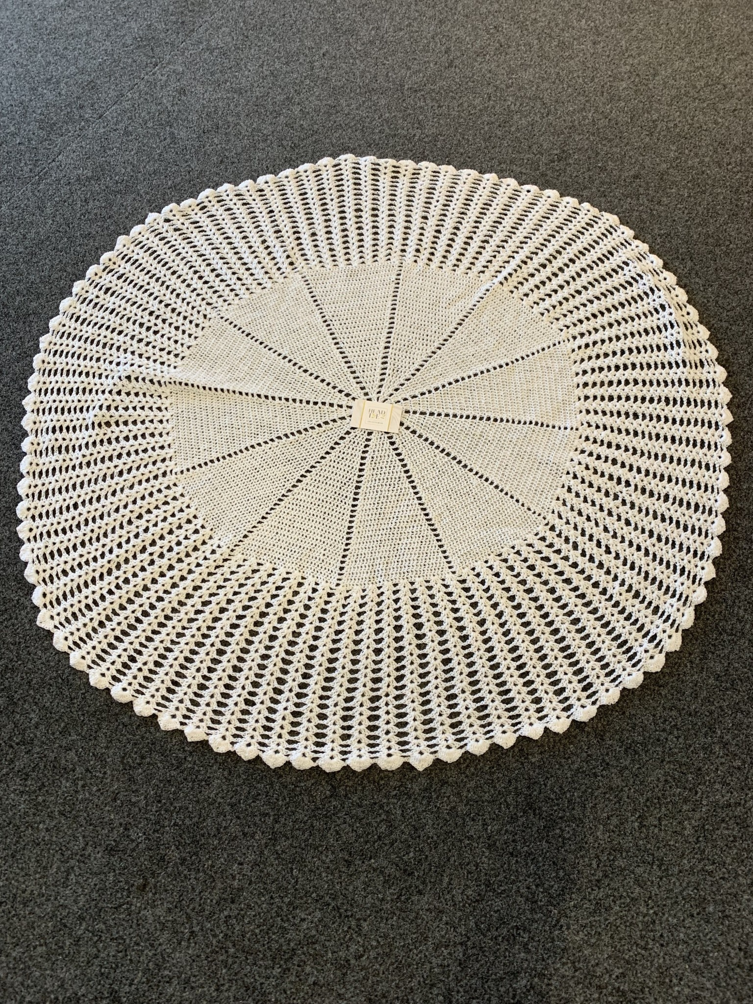 Handmade Large Knitted Shawl White