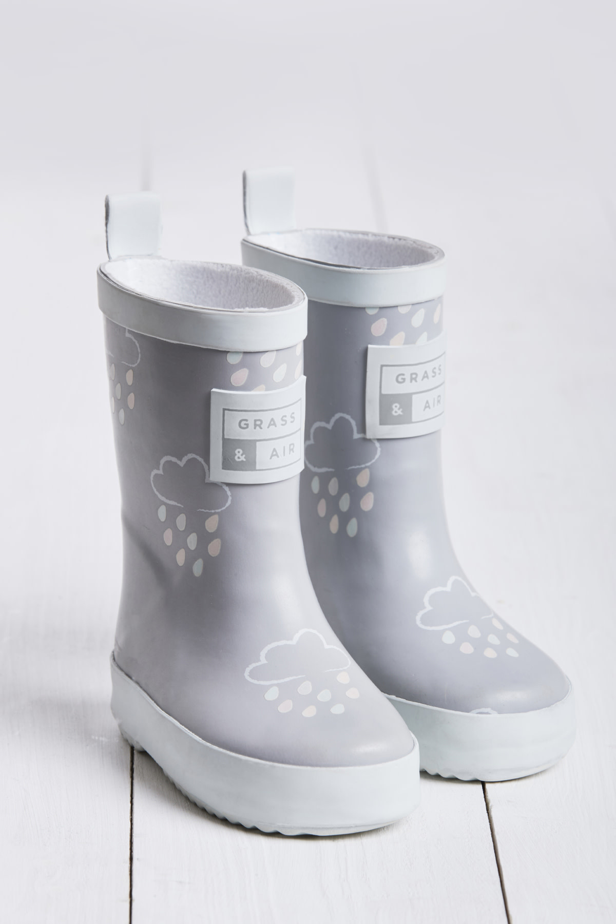 Grass And Air Grass and Air Colour Revealing Wellington Boots Light Grey