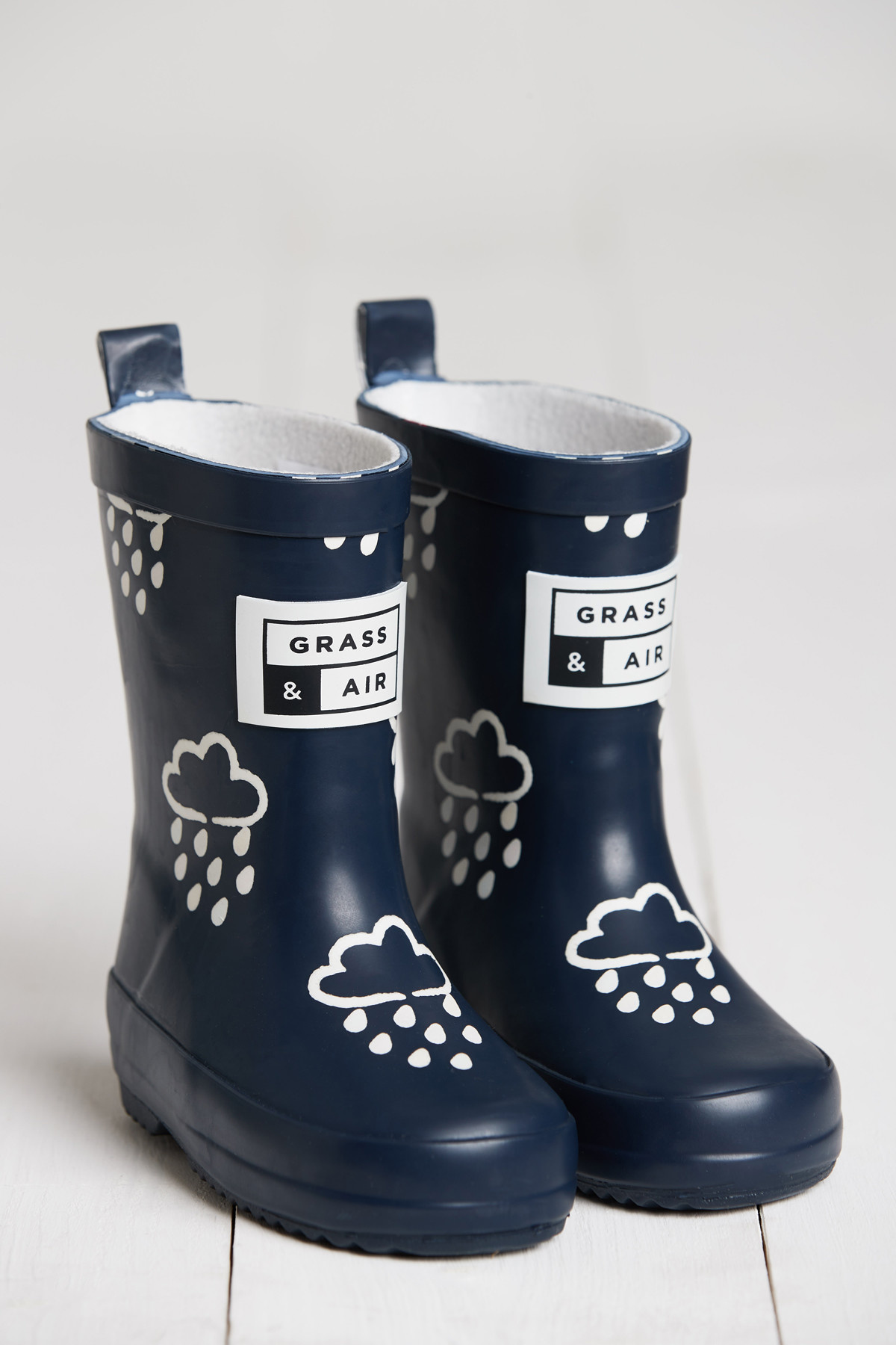 Grass And Air Grass and Air Colour Revealing Wellington Boots Navy