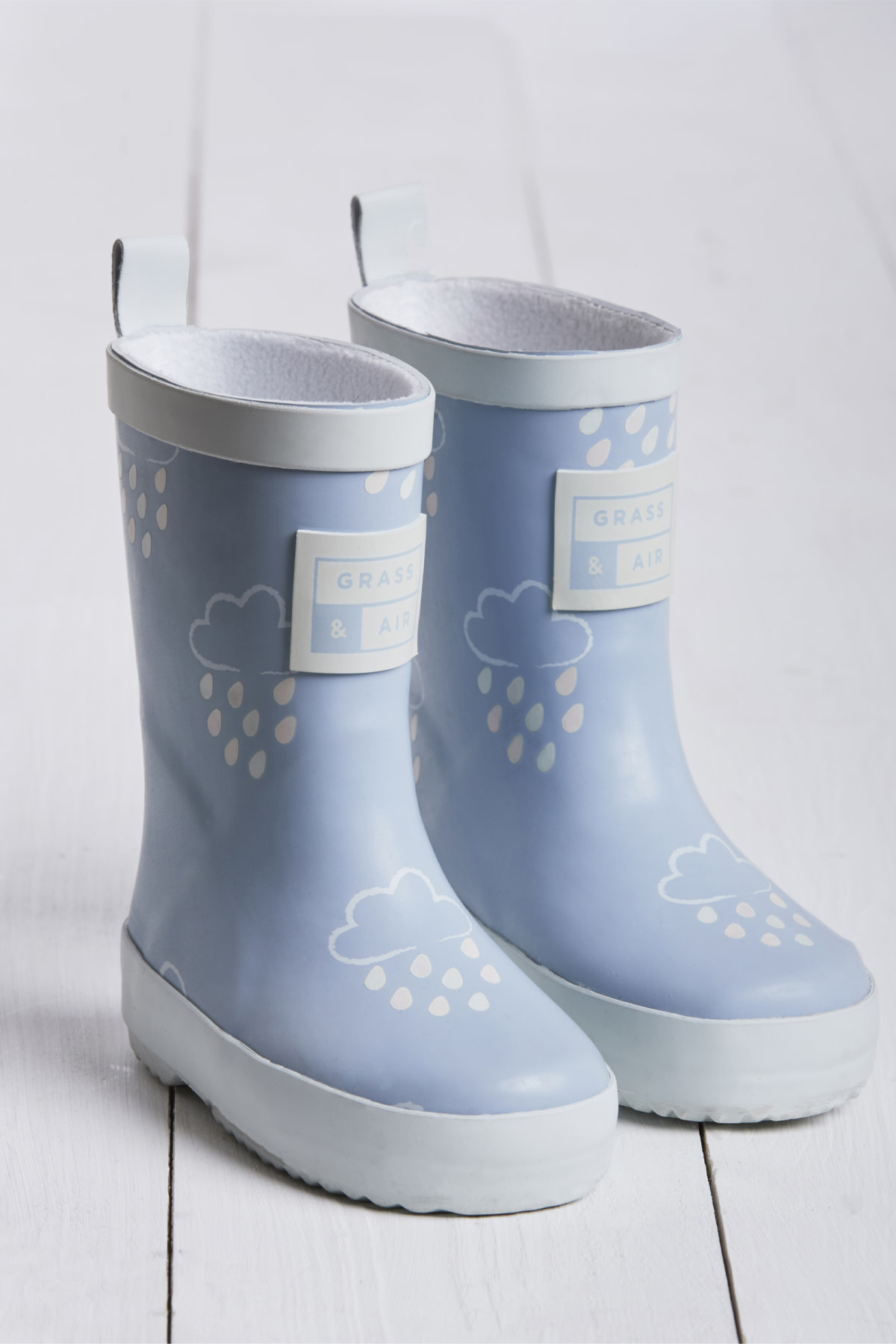 Grass And Air Grass and Air Colour Revealing Wellington Boots Baby Blue