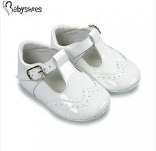 Borboleta Borboleta Pre Walker Baby Boy Shoes Soft Sole White Patent 104 - Alex Size 18