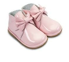 Borboleta Borboleta Girls Pink Patent Boots With Bow Detail 1122 - Sharon