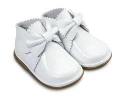 Borboleta Borboleta Girls White Patent Boots With Bow Detail 1122 - Sharon