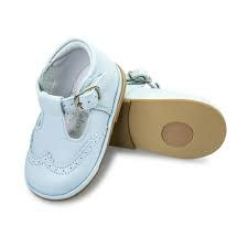 Borboleta Borboleta Boys Blue Leather Shoes T Bar 2113 - Ryan